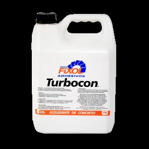 Aditivos para Concreto Turbocon Fixol. Presentaciones de 4 litros, 18 litros y 180 litros.